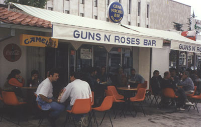 Guns and Roses cafe, one of the nicest